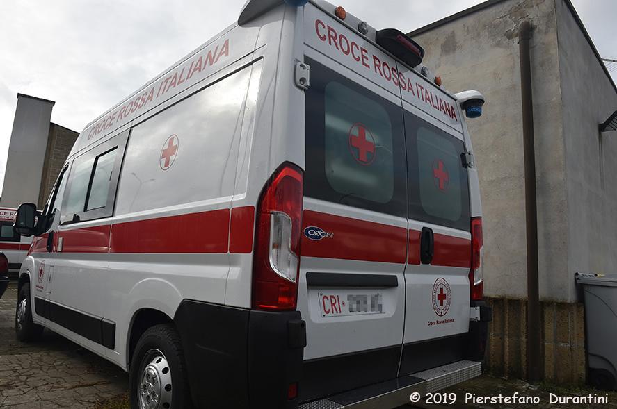 Un′ambulanza della Croce Rossa Italiana